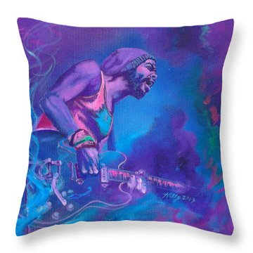 Gary Clark Jr. Throw Pillow