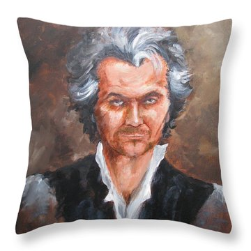 Gary Oldman As Beethoven Throw Pillow
