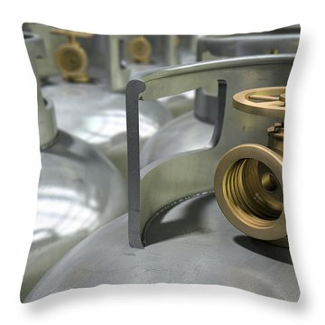 Gas Cylinders Collection Throw Pillow by Allan Swart