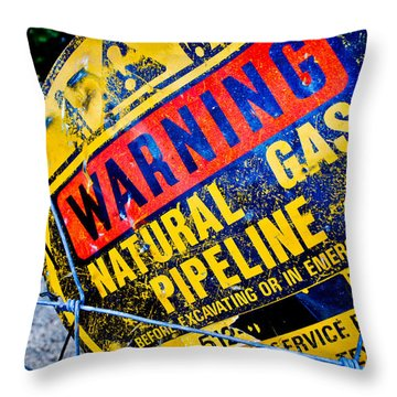 Gas Pipeline Throw Pillow