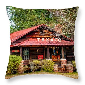Throw Pillow featuring the photograph Gas Station 1 by Dawn Eshelman