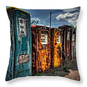 Throw Pillow featuring the photograph Gasoline Alley by Ken Smith