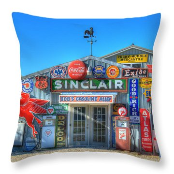 Gasoline Alley Throw Pillow by Steve Stuller