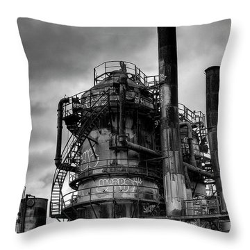 Gasworks Park Throw Pillow by David Patterson