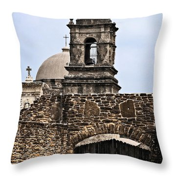 Gate To San Jose Throw Pillow by Andy Crawford