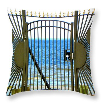 Gate To Paradise Throw Pillow