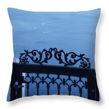Gated Caldera Throw Pillow