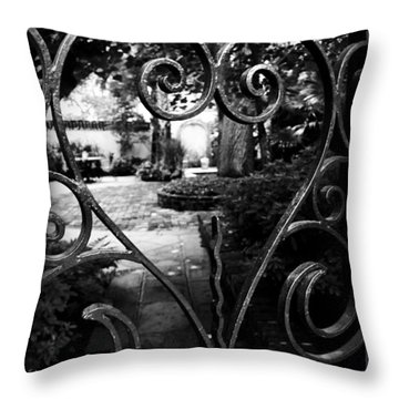 Gated Heart Throw Pillow