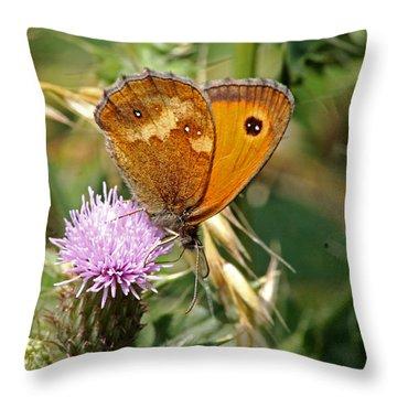 Gatekeeper Butterfly Throw Pillow