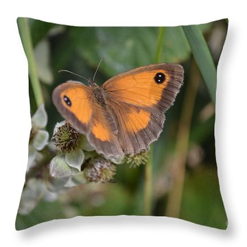 Gatekeeper Butteryfly Throw Pillow by Scott Lyons