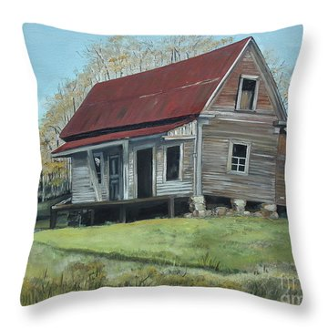 Gates Chapel - Ellijay Ga - Old Homestead Throw Pillow