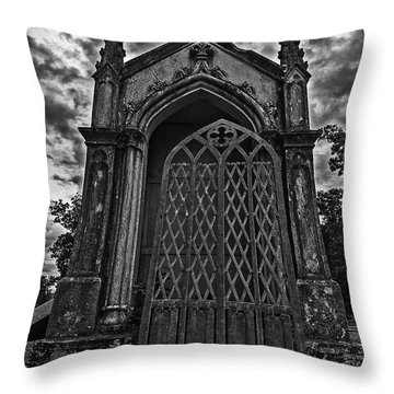 Gates Of Hades Throw Pillow by Andy Crawford