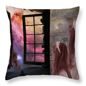 Gates Of Heaven-regarder La Fin Du Monde Throw Pillow