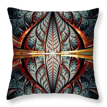 Gates Of Night Throw Pillow by Anastasiya Malakhova