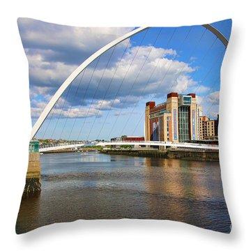 Gateshead Millenium Bridge In Newcastle 6206 Throw Pillow