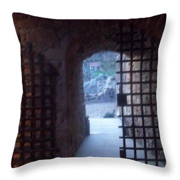 Gateway And Portcullis Throw Pillow