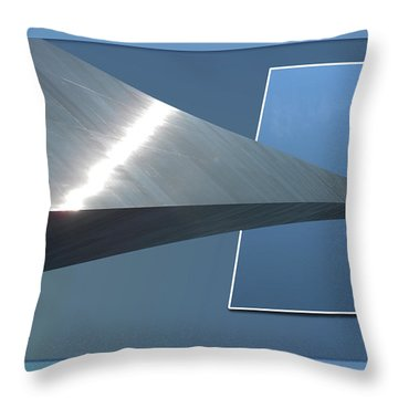 Gateway Arch St Louis 06 Throw Pillow by Thomas Woolworth