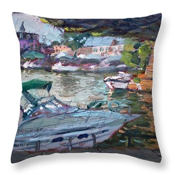Gateway Harbor North Tonawanda Throw Pillow