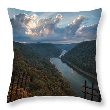 Throw Pillow featuring the photograph Gateway To Autumn by Jaki Miller
