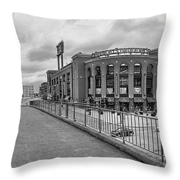 Gateway To Busch Black And White Throw Pillow