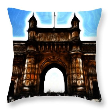 Gateway To Fractalius Throw Pillow