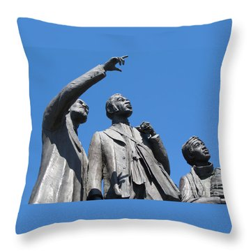 Gateway To Freedom - 1 Throw Pillow by Ann Horn