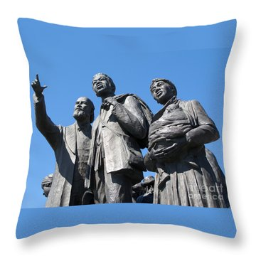 Gateway To Freedom - 2 Throw Pillow by Ann Horn