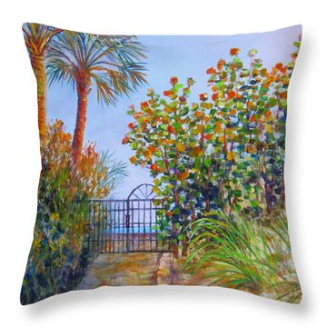 Gateway To Paradise Throw Pillow by Lou Ann Bagnall