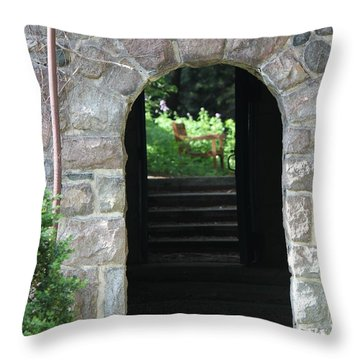 Gateway To The Garden Throw Pillow