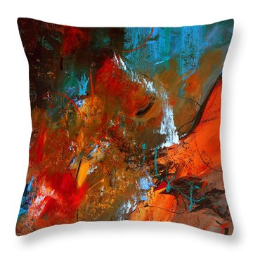 Gather The Wheat Throw Pillow by Ruth Palmer