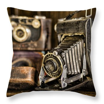 Gathering Dust Iv Throw Pillow by Heather Applegate