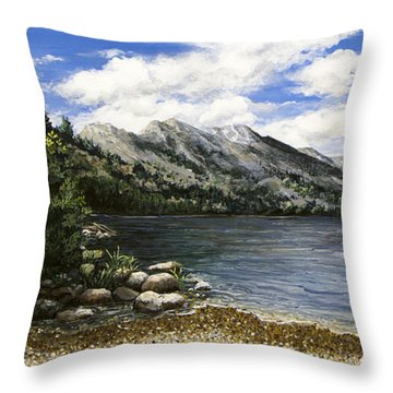 Gathering Moss Throw Pillow
