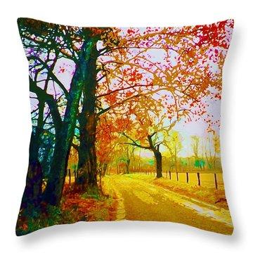 Gatlinburg In The Rain Throw Pillow by CHAZ Daugherty
