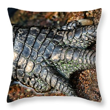 Gator Manicure Throw Pillow by Karol Livote