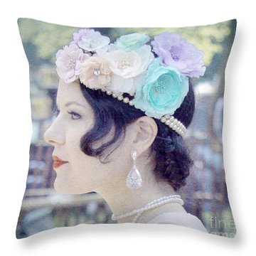 Gatsby Girl  Throw Pillow