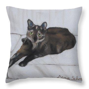 Gatsby The Cat Throw Pillow
