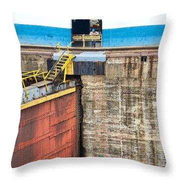 Gatun Locks Throw Pillow