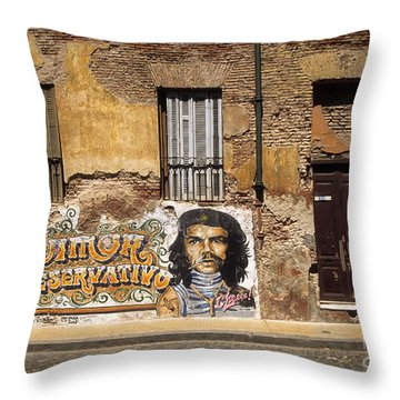 Gaucho Che Promotes Contraception Throw Pillow
