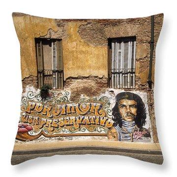 Gaucho Che Promotes Contraception Throw Pillow