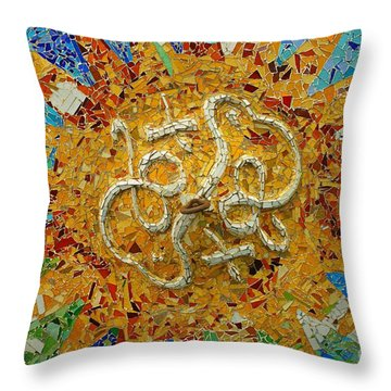 Gaudi Art Throw Pillow