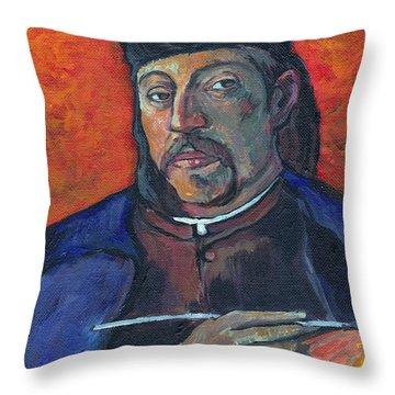 Gauguin Throw Pillow by Tom Roderick