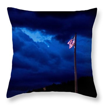 Gave Proof Through The Night That Our Flag Was Still There. Throw Pillow