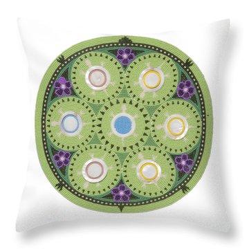 Gavino's Cradleboard Beadwork Throw Pillow