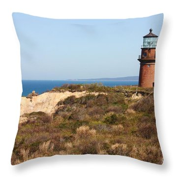 Gay Head Lighthouse Throw Pillow by Carol Groenen
