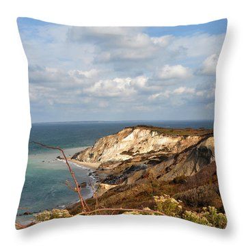 Gay Head Marthas Vineyard  Throw Pillow by Diane Lent