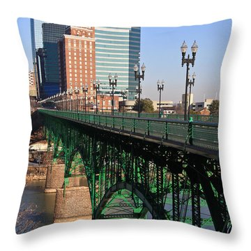 Gay Street Bridge Knoxville Throw Pillow