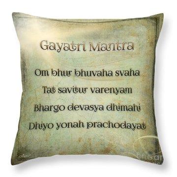 Gayatri Mantra Throw Pillow