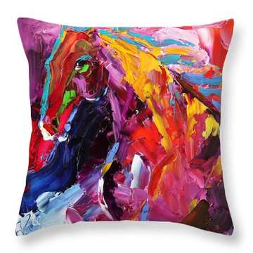 Gaze Of Strength Horse 22 - 2014 Throw Pillow