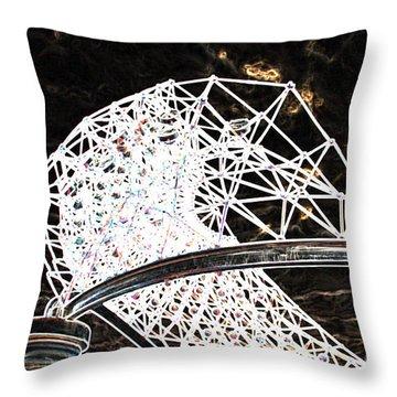 Throw Pillow featuring the photograph Gazebo 3 by Minnie Lippiatt