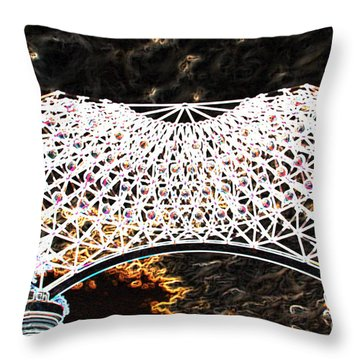 Throw Pillow featuring the photograph Gazebo 4 by Minnie Lippiatt